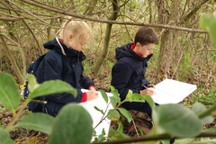 Year 5 children visiting Wicken Fen to take inspiration for their child-led learning topic in Art
