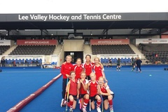 St John's College School Under 11 Girls' A Hockey Team at the Olympic Park
