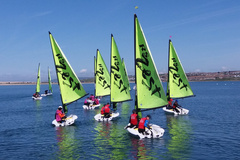 SJCS pupils taking part in the IAPS Sailing Competition in Weymouth 2021