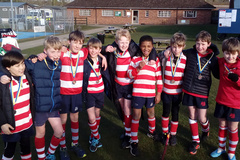 Under 11s Colts VII Boys' Team at Gresham's for the East Round Tournament Finals
