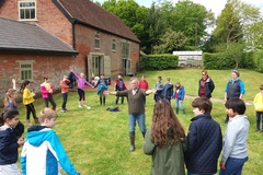 Form 3 pupils visiting Shimpling Park Farm
