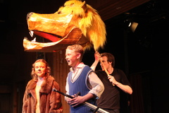 Form 6 pupils perform C S Lewis' The Lion, The Witch and The Wardrobe